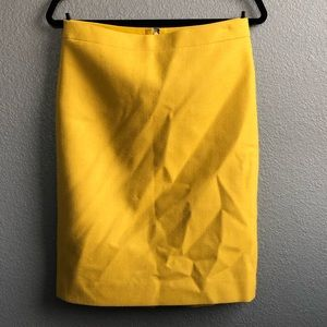 Jcrew marigold wool pencil skirt Sz 4